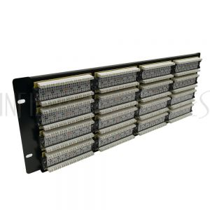 "PP-96C6-110 96-Port CAT6 Patch Panel, 19"" Rackmount 4U -  110 Punch-Down - Infinite Cables"