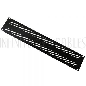 RM-600V-2U Blank Filler Panels - Black 2U - Vented