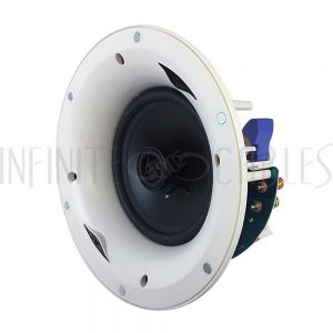 "SPK-C6-FLE 6.5"" 2-Way Frameless Ceiling Speaker, 120W Max (Pair) - Infinite Cables"