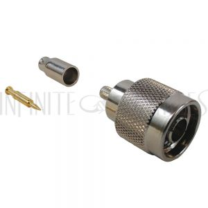 CN-00-100 N-Type Male Crimp Connector for RG174 (LMR-100) 50 Ohm