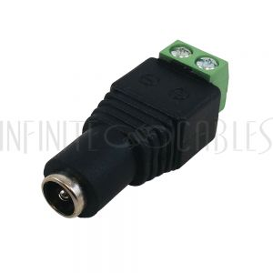 CN-DCF-S DC Power Connector Female 2.1mm x 5.5mm Screw Down - Infinite Cables