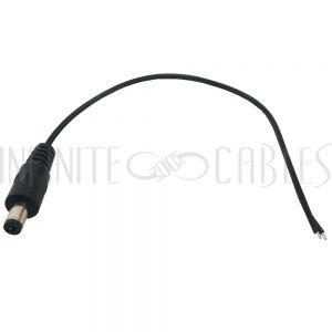 CN-DCM-8IN DC Power Connector Male 2.1mm x 5.5mm (8 inch Pigtail, 22AWG) - Infinite Cables