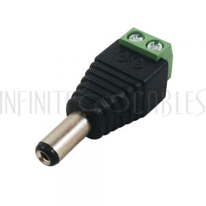 CN-DCM-S DC Power Connector Male 2.1mm x 5.5mm Screw Down - Infinite Cables