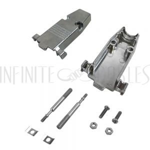 CV-MDB9-KIT-11 DB9 Metal Cover Kit with Thumbscrews - Fits 11mm Cable - Infinite Cables