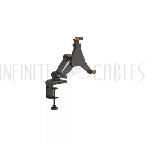 """MT-2101-BK Tablet mount single arm clamp for iPad and 8.9""""-10.4"""" tablets - Black - Infinite Cables"""