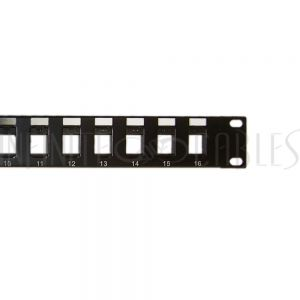 "PP-16KS-1U 16-port Keystone Patch Panel, 19"" Rackmount 1U - Unloaded"