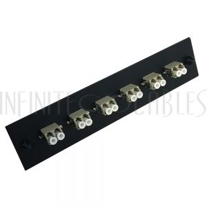 PP-FA108-6BK Loaded Adapter Panel with 6x Duplex LC/PC Multimode - Black - Infinite Cables
