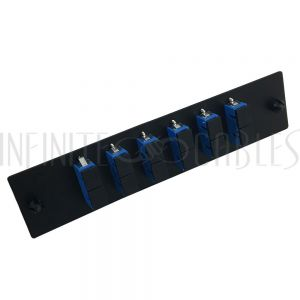 PP-FA204-6BK Loaded Adapter Panel with 6 x Duplex SC/UPC Singlemode - Black - Infinite Cables