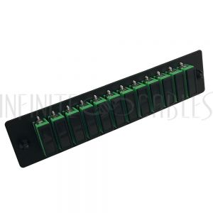 PP-FA204A-12BK Loaded Adapter Panel with 12 x Duplex SC/APC Singlemode - Black - Infinite Cables