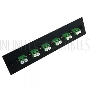 PP-FA208A-6BK Loaded Adapter Panel with 6x Duplex LC/APC Singlemode - Black