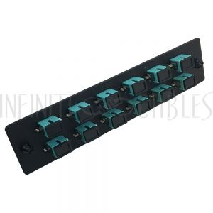 PP-FA804-12BK Loaded Adapter Panel with 12x Simplex SC/PC Multimode 10gig - Black - Infinite Cables