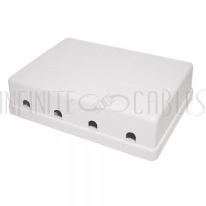 SB-4P-WH Surface Box 4 Port White - Infinite Cables