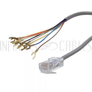SB-RJ31X-IV RJ31X RJ45 Surface with 2ft RJ45 to Spade Lug Cable - Infinite Cables