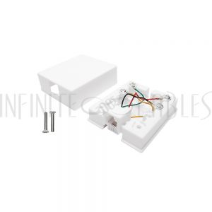 SB-TEL-WH 1 Port RJ11 Telephone Surface Mount Box - White