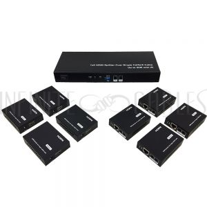 VE-HDMI-012 HDMI 8-port Extender Over One Cat6 Cable 40m - Infinite Cables