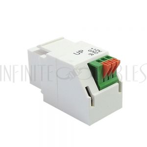 WP-IN-35MMP 3.5mm Push Button to Female Keystone Wall Plate Insert - Infinite Cables