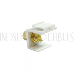 WP-IN-RCAS-YL RCA Solder to Female Keystone Wall Plate Insert White, Gold Plated - Yellow