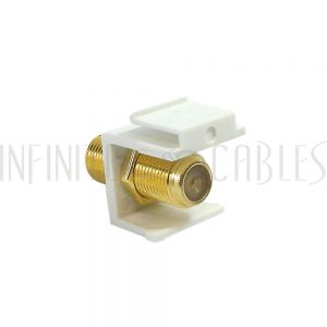 WP-IN-TVF F-Type Female/Female Keystone Wall Plate Insert, Gold Plated (1Ghz Insert) - Infinite Cables