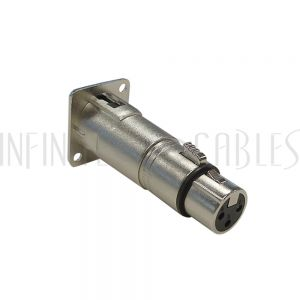 WP-IN-XLRMF XLR Male D-Cut to XLR Female - Nickel