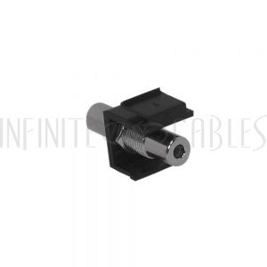 WP-INB-35MM 3.5mm Female to Female Stereo Keystone Wall Plate Insert - Black - Infinite Cables