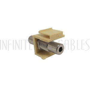 WP-INI-35MM 3.5mm Female to Female Stereo Keystone Wall Plate Insert - Ivory