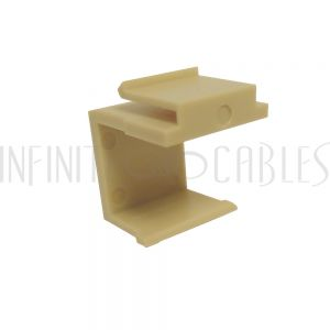 WP-INI-BNK Blank Keystone Wall Plate Insert - Ivory - Infinite Cables