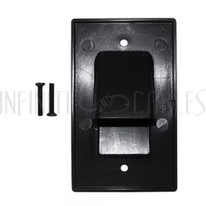 WP-PT1-BK Cable Pass-through Wall Plate, Single Gang - Black