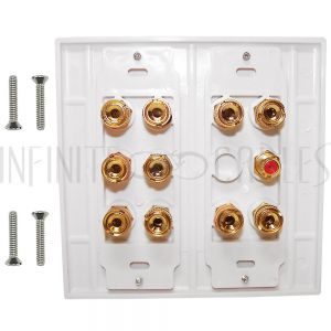 WPK-BAN5.1-D 5.1 Surround Sound Wall Plate Kit Decora - White