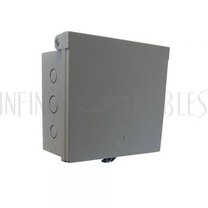 "EB-0708-GY Enclosure Box 7"" x 8"" x 3.5"", Indoor/Outdoor Non-Metallic, NEMA 3R Rated - Grey - Infinite Cables"