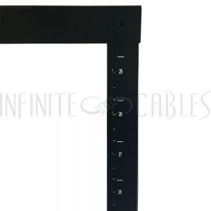 RM-110 2-Post Relay Rack - 19 inch 29U, 10-32 Tapped Rails - Infinite Cables