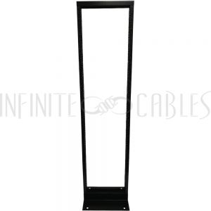 RM-115 2-Post Relay Rack - 19 inch 44U, 10-32 Tapped Rails - Infinite Cables