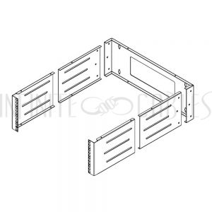 RM-210-4U 19 inch Wall Mount Bracket - 4U, Adjustable Depth, 12-18 Inches, Hinged - Infinite Cables