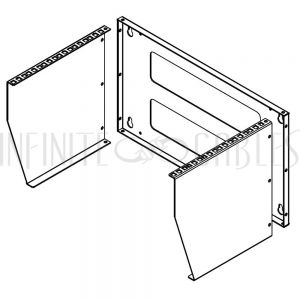 RM-250-6U Vertical Wall Mount Rack - 6U - Infinite Cables