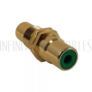 AD-RCA-GN RCA Female to Female Bulkhead, Gold Plated - Green