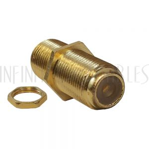 AD-TVF F-Type Female to Female Bulkhead, Gold Plated (1Ghz insert) - Infinite Cables