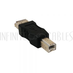 AD-USB-05 USB A Female to B Male Adapter - Infinite Cables