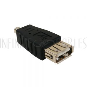 AD-USB-07 USB A Female to Mini 4-Pin Male Adapter