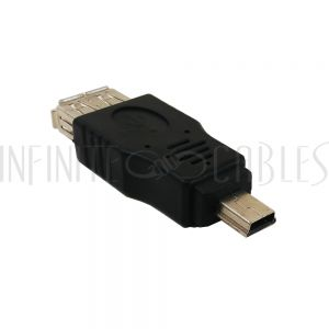 AD-USB-08 USB A Female to Mini 5-Pin Male Adapter