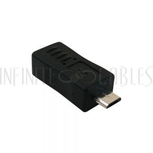 AD-USB-13 USB Mini 5-pin Female to Micro B Male Adapter - Infinite Cables