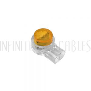 CN-UY-100 UY Connector Tap, 2-Wire, 22 to 26AWG (100 pack) - Yellow - Infinite Cables