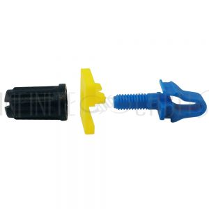 RM-RSL100-2.7 Rackstuds, Blue (14AWG to 12AWG rail) - Pack of 100