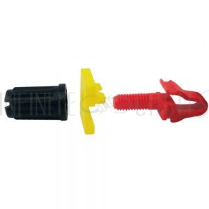 RM-RSL100 Rackstuds, Red (16AWG to 14AWG rail) - Pack of 100 - Infinite Cables