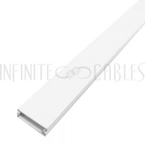 Raceway and Fittings (38mm x 11mm) - White - Infinite Cables