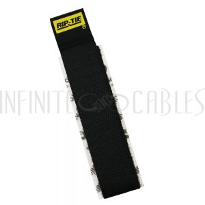 VL-CC1-04BK-05 4 inch Rip-Tie CableCatch Adhesive Back Wrap - Black - Pack of 5 - Infinite Cables