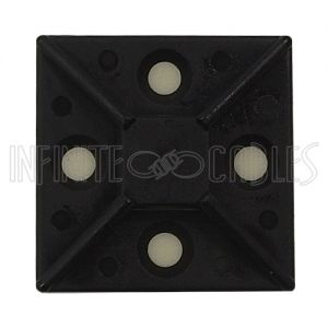 "CT-M150-BK Adhesive cable tie mount 1.5""x 1.5"" - Black - Pack of 100 - Infinite Cables"