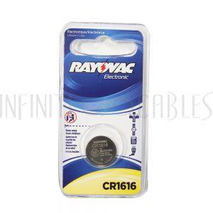BT-CC-CR1616 Rayovac coin cell battery 3V size CR1616 Lithium (1 pack)