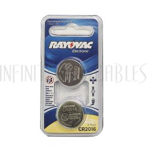 BT-CC-CR2016 Rayovac coin cell battery 3V size CR2016 Lithium (2 pack) - Infinite Cables
