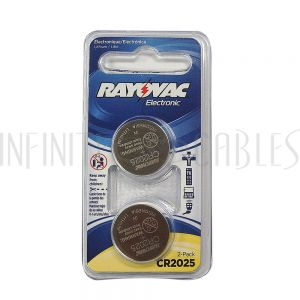 BT-CC-CR2025 Rayovac coin cell battery 3V size CR2025 Lithium (2 pack) - Infinite Cables