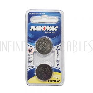 BT-CC-CR2032 Rayovac coin cell battery 3V size CR2032 Lithium (2 pack) - Infinite Cables