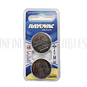 BT-CC-CR2450 Rayovac coin cell battery 3V size CR2450 Lithium (2 pack)